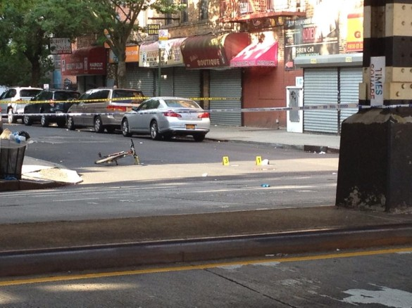 Photo of the crime scene this morning (Photo by Evelina G.)