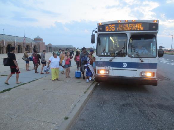 Passengers prepare to board the Q35 at Riis Park Beach en route to Flatbush Avenue. Source: Ryan Janek Wolowski | Flickr